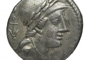 ancre / Chiffre 24 en grec 3.82gr _ 17.5mm