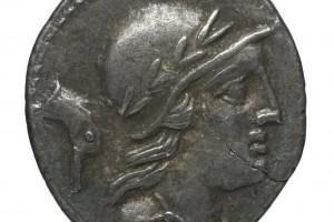 Tête de canard / Chiffre 56 en grec 3.86gr _ 18.4mm