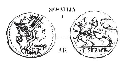 Denier Servilia _ RRC 264/1