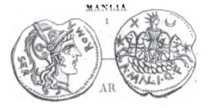 Denier Manlia _ RRC 309/1