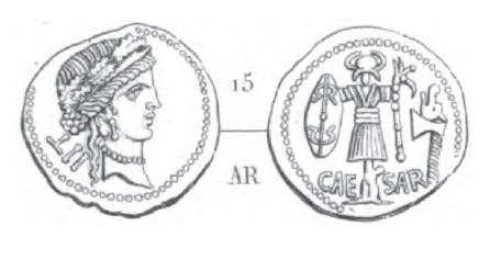Denier César _ RRC 452/2