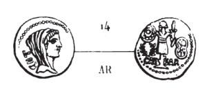 Quinaire César RRC 452/3
