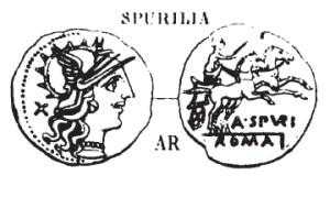 Denier Spurilia _ RRC 230/1