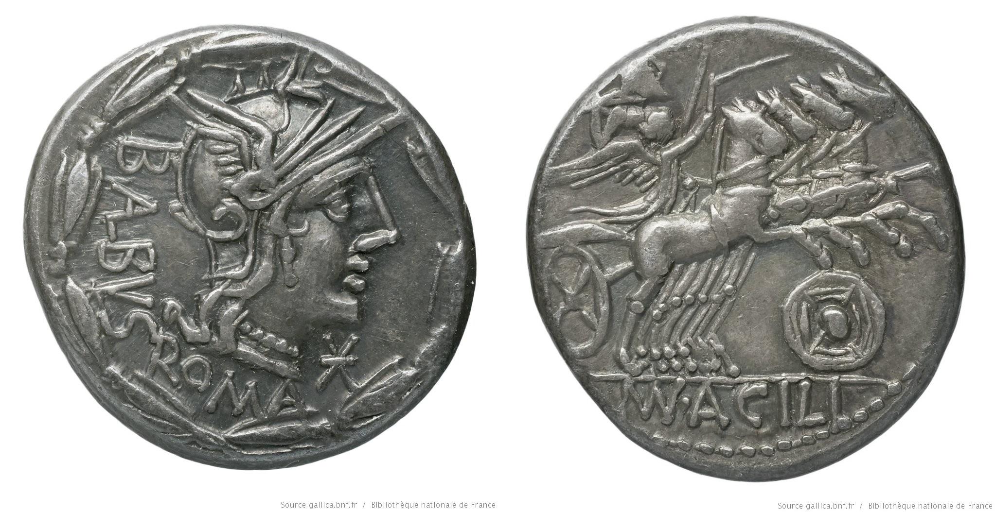 1045AC – Denier Acilia – Manius Acilius Balbus