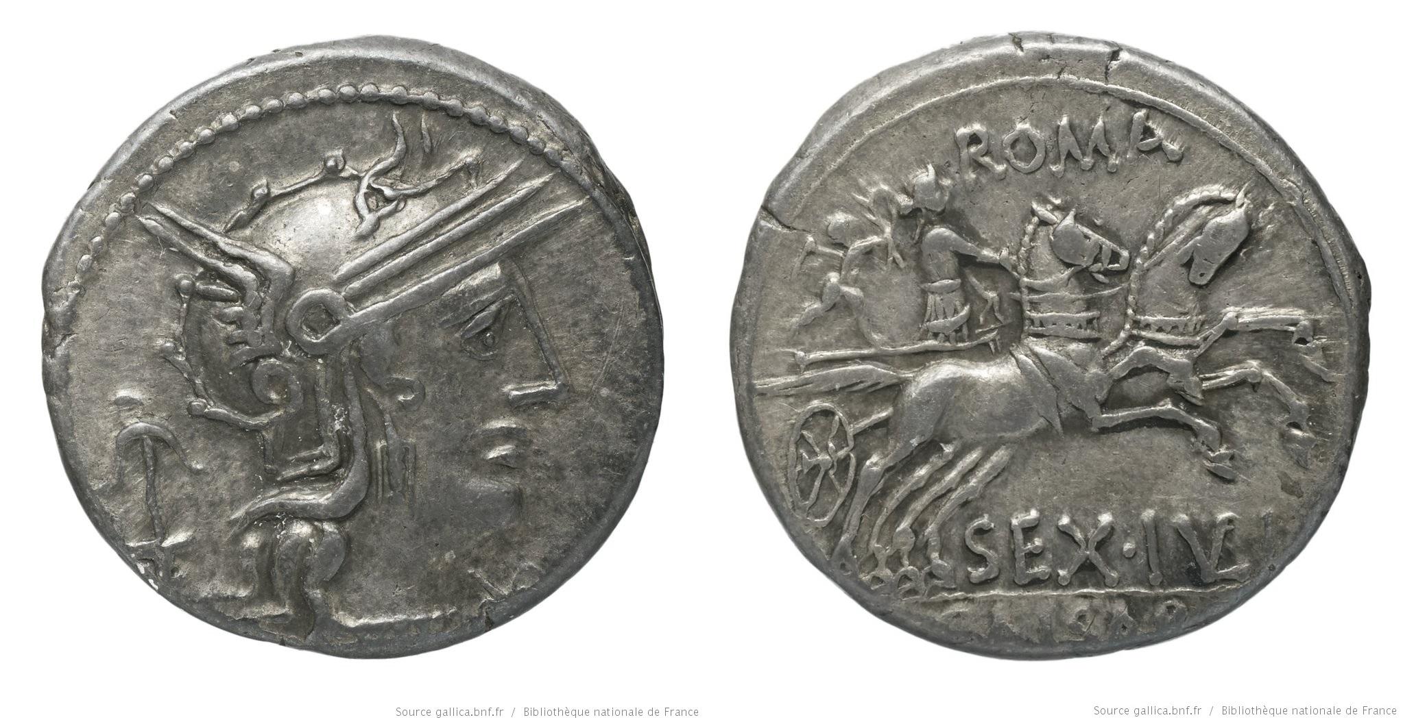 1007JU – Denier Julia – Sextus Julius Cæsar