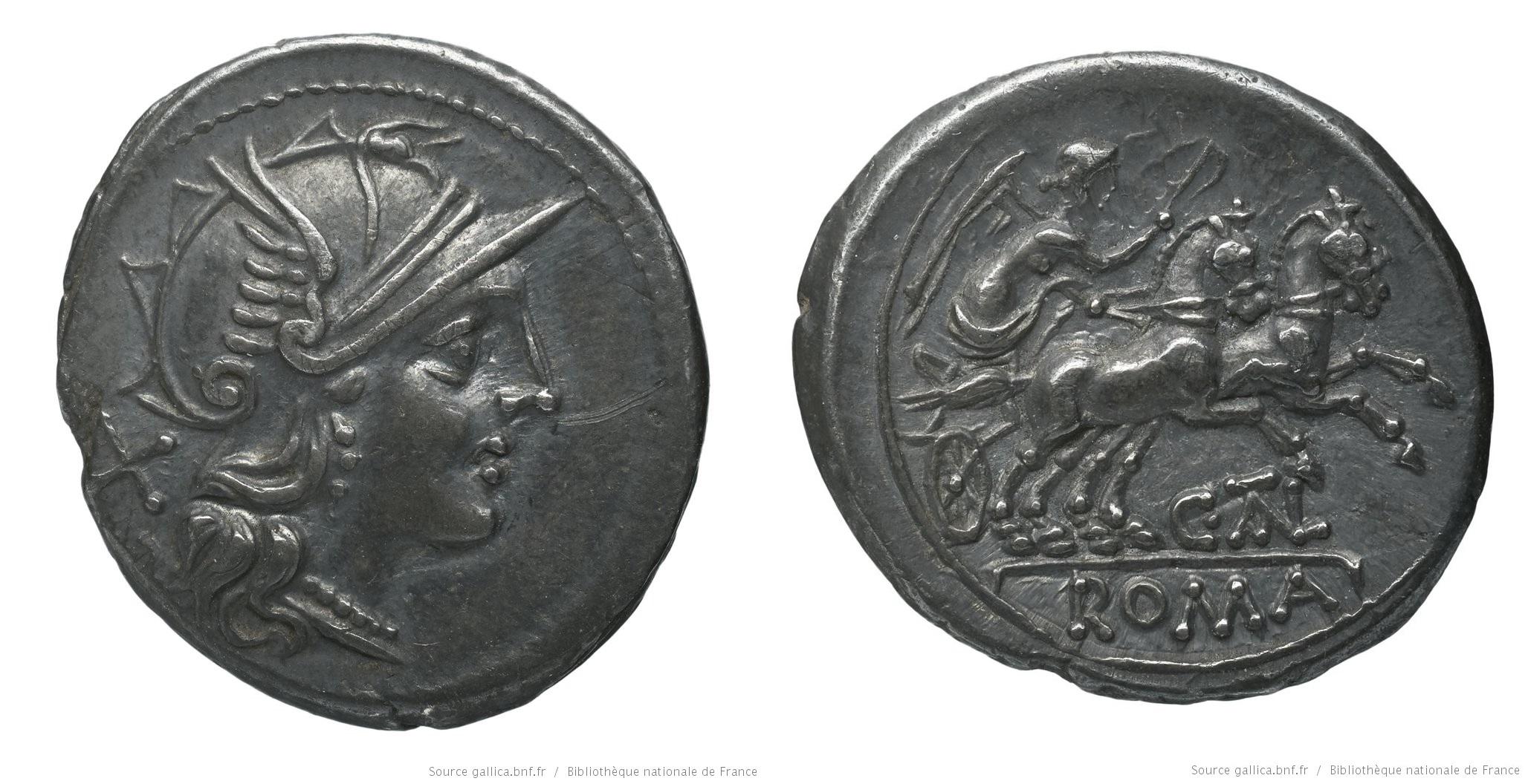820JU – Denier Juventia – Caius Juventius Talna
