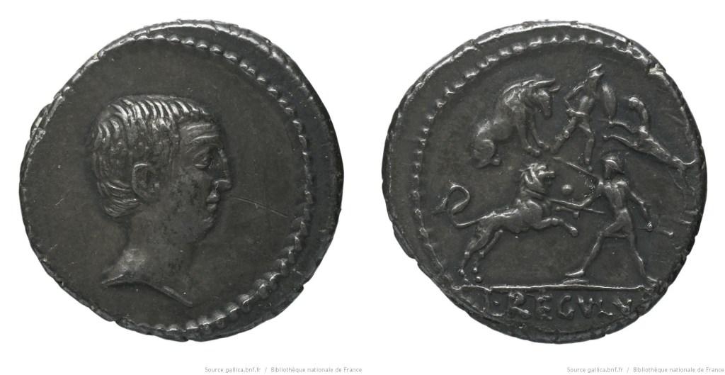 1608LI – Denier Livineia – Lucius Livineius Regulus