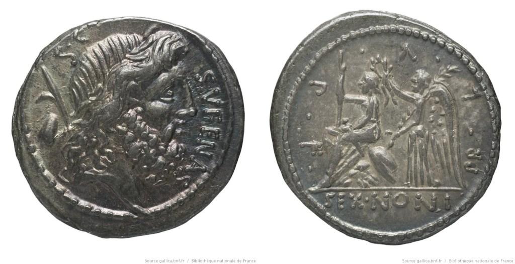 Read more about the article 1389NO – Denier Nonia – Sextus Nonius Sufenas