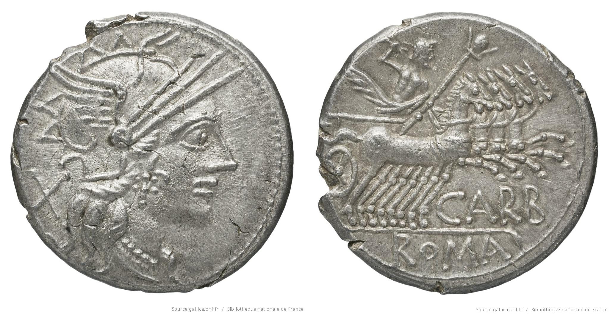 1063PA – Denier Papiria – Cnæus Papirius Carbo