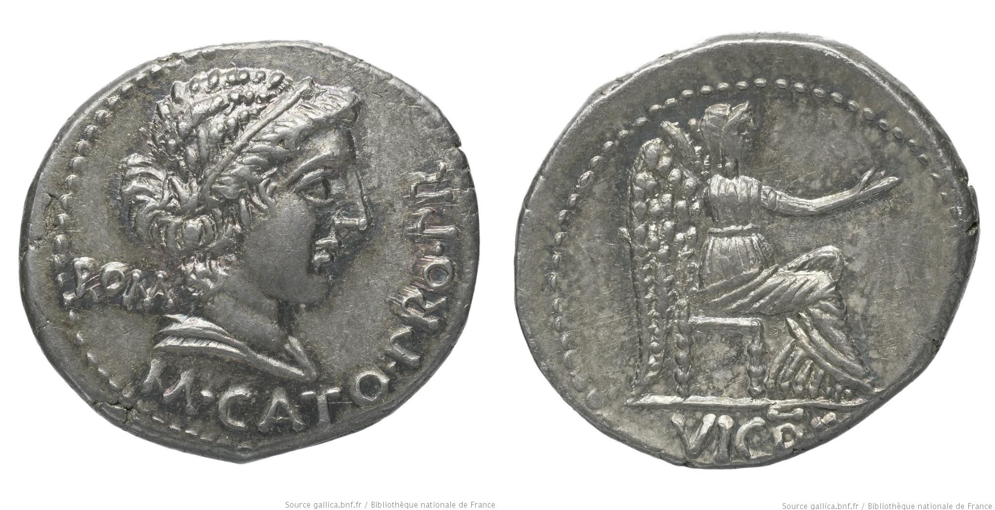 1468PO – Denier Porcia – Marcus Porcius Cato Uticensis