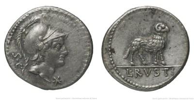 1326RU – Denier Rustia – Lucius Rustius