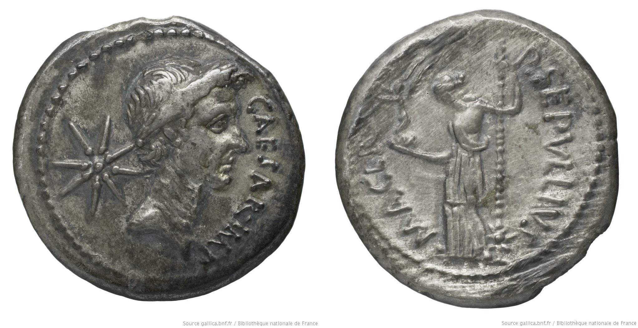 1528JU – Denier César – Publius Sepullius Macer