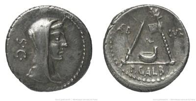 1354SU – Denier Sulpicia – Publius Sulpicius Galba