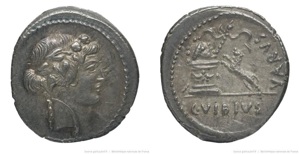 1614VI – Denier Vibia – Caius Vibius Varus