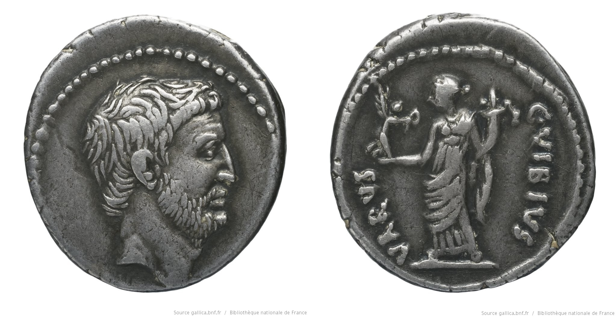 1610AN – Denier Marc Antoine – Caius Vibius Varus