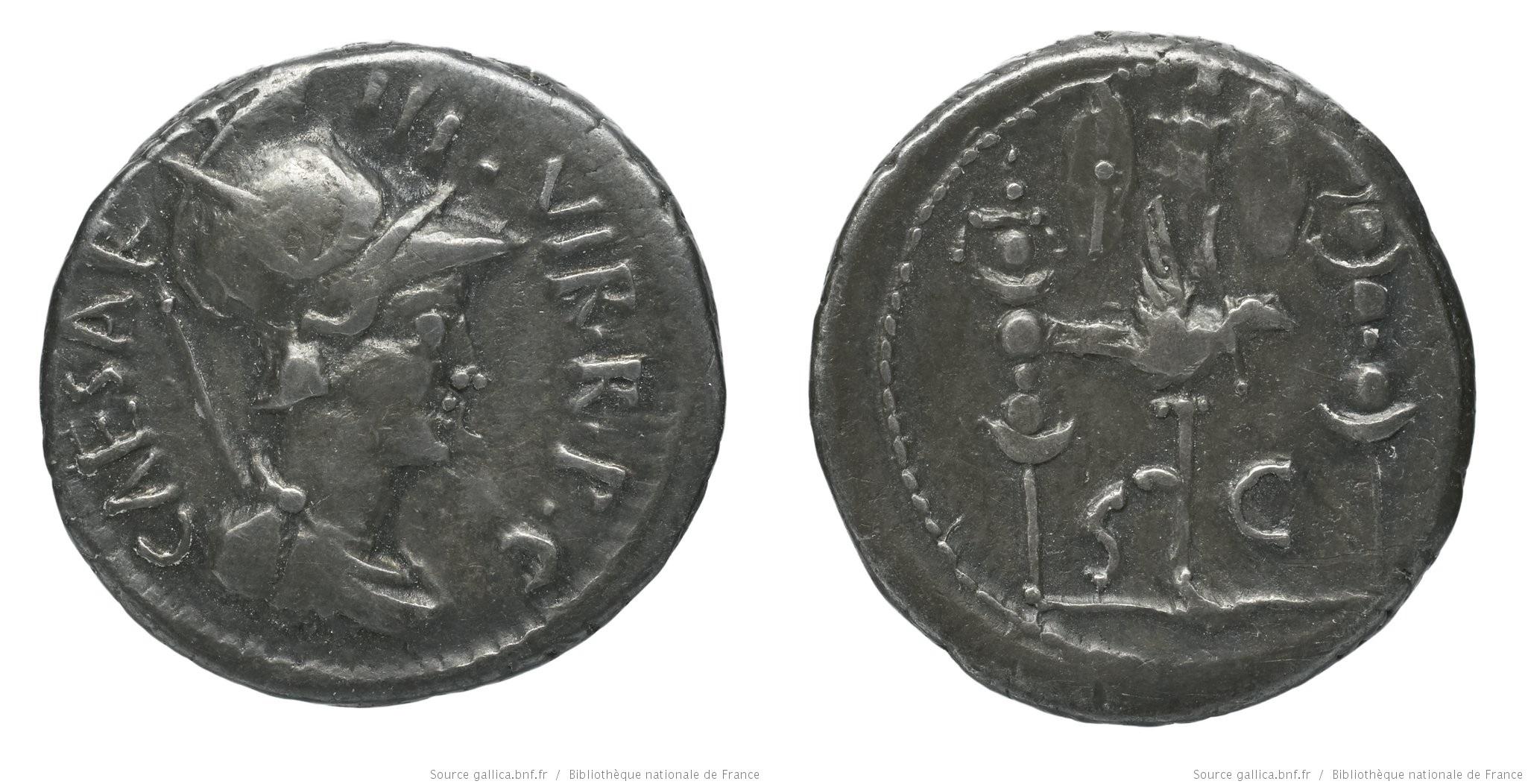 1630JU – Denier Octave – Caius Julius Cæsar Octavianus
