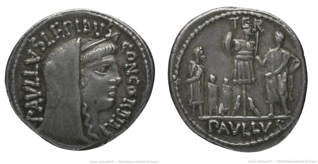 1375AE – Denier Aemilia – Lucius Æmilius Lepidus Paullus