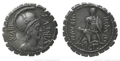 1345AQ – Denier Serratus Aquillia – Manius Aquillius