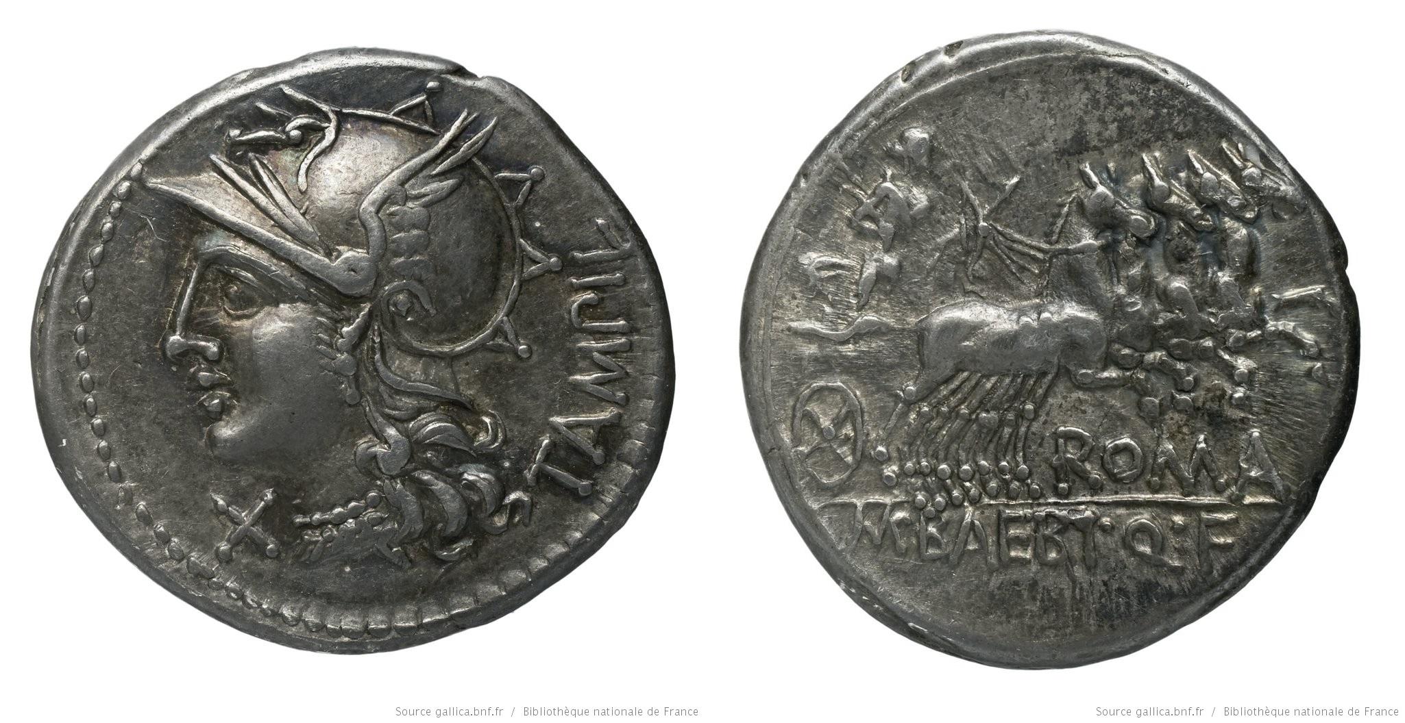 926BA – Denier Baebia – Marcus Bæbius Tampilus