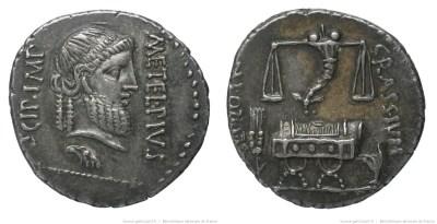 Read more about the article 1464CA – Denier Scipion et Crassus – Q. Cæcilius Metellus Pius Scipio
