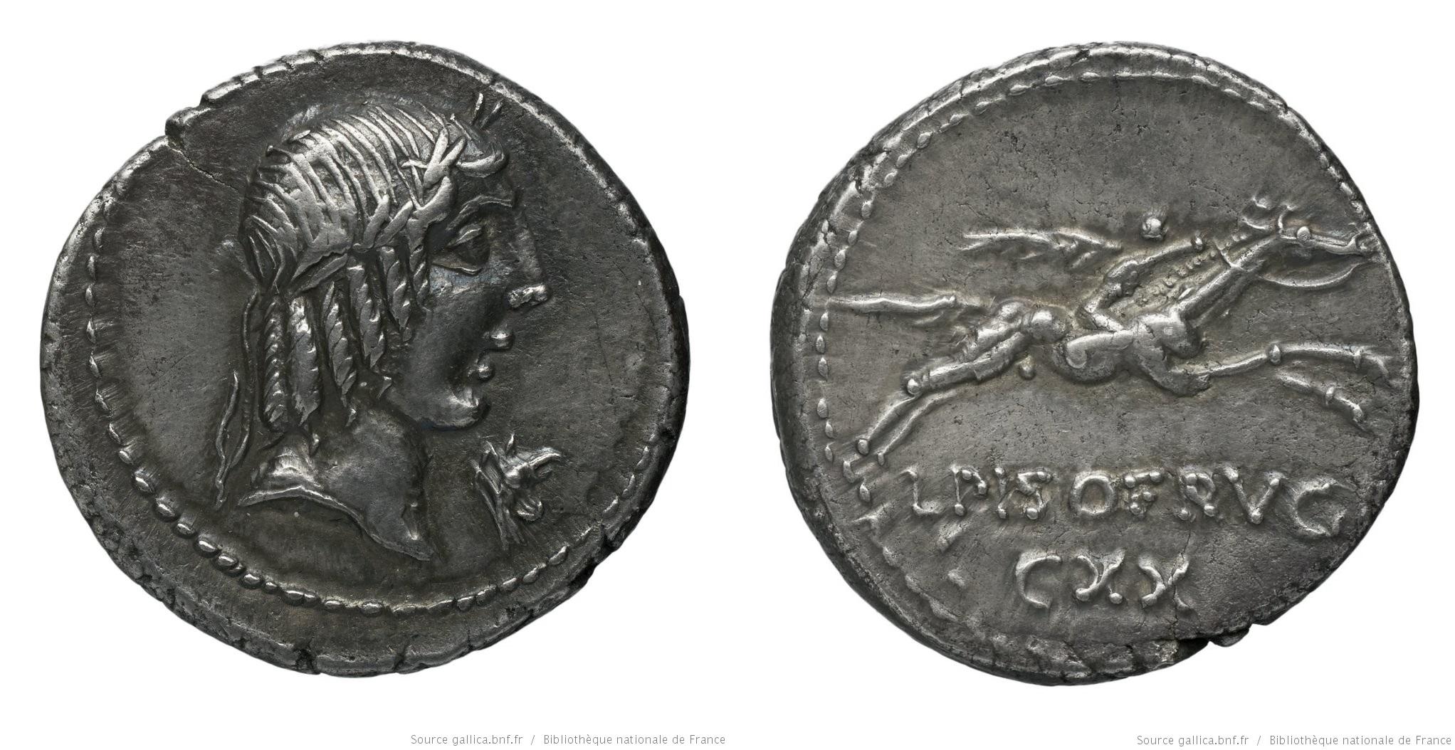 1204CA – Denier Calpurnia – Lucius Calpurnius Piso Frugi