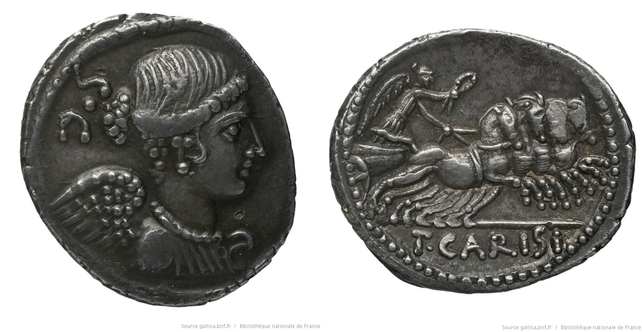 1479CA – Denier Carisia – Titus Carisius