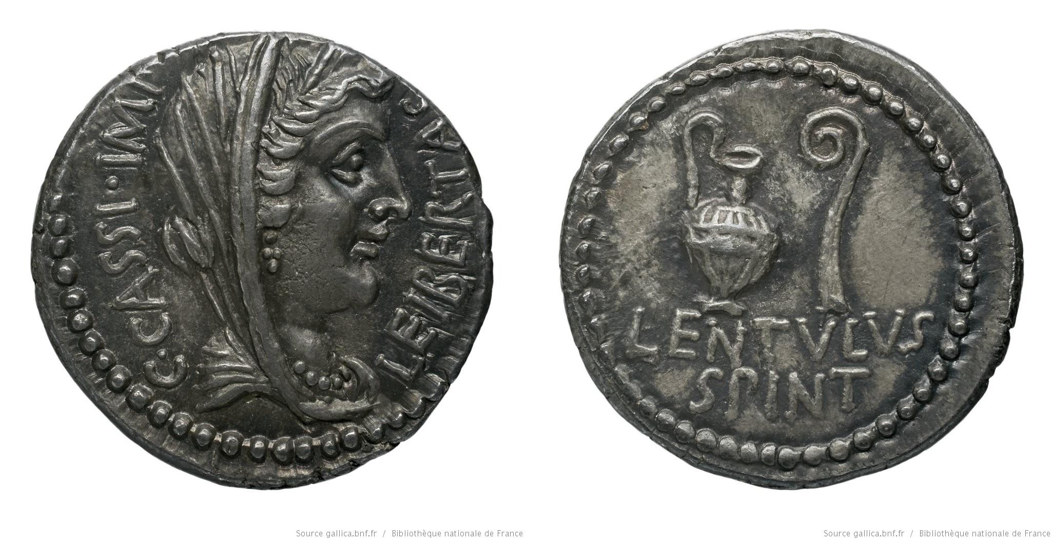 1637CA – Denier Cassius – Lentulus Spinther