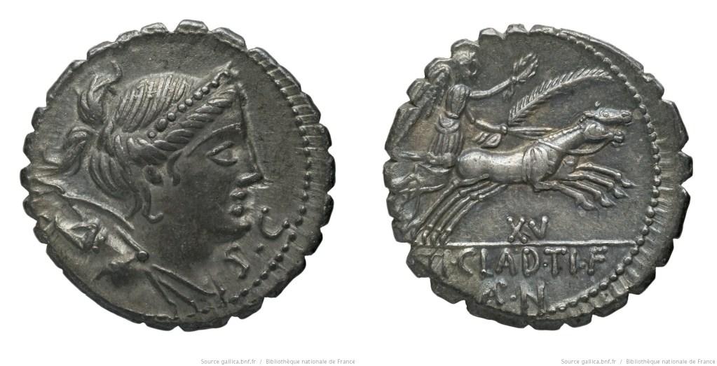 1316CL – Denier Serratus Claudia – Tiberius Claudius Nero