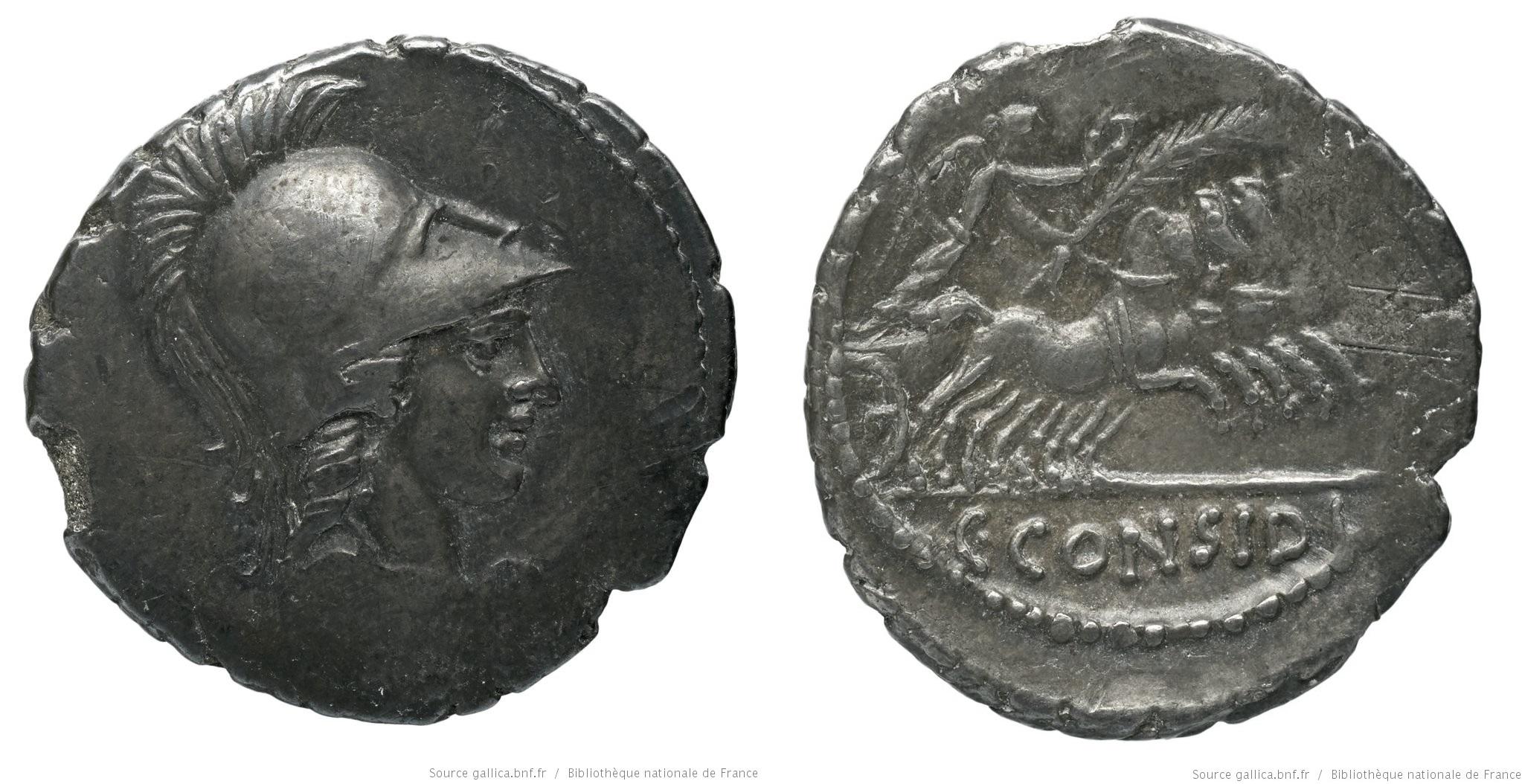1486CO – Denier Considia – Caius Considius Pætus