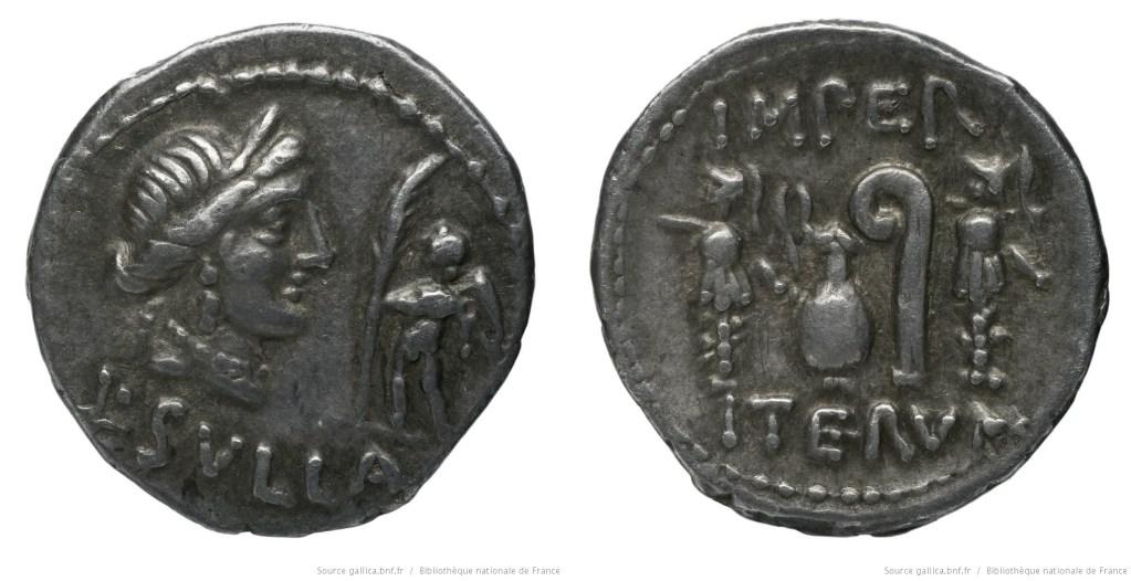 1281CO – Denier Sylla – Lucius Cornelius Sulla