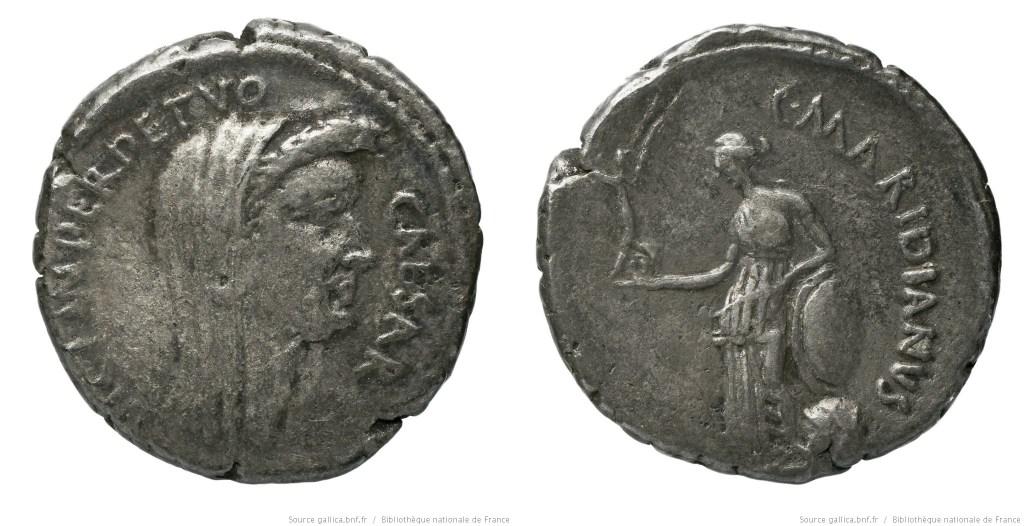 Read more about the article 1536JU – Denier César – Caius Cossutius Maridianus