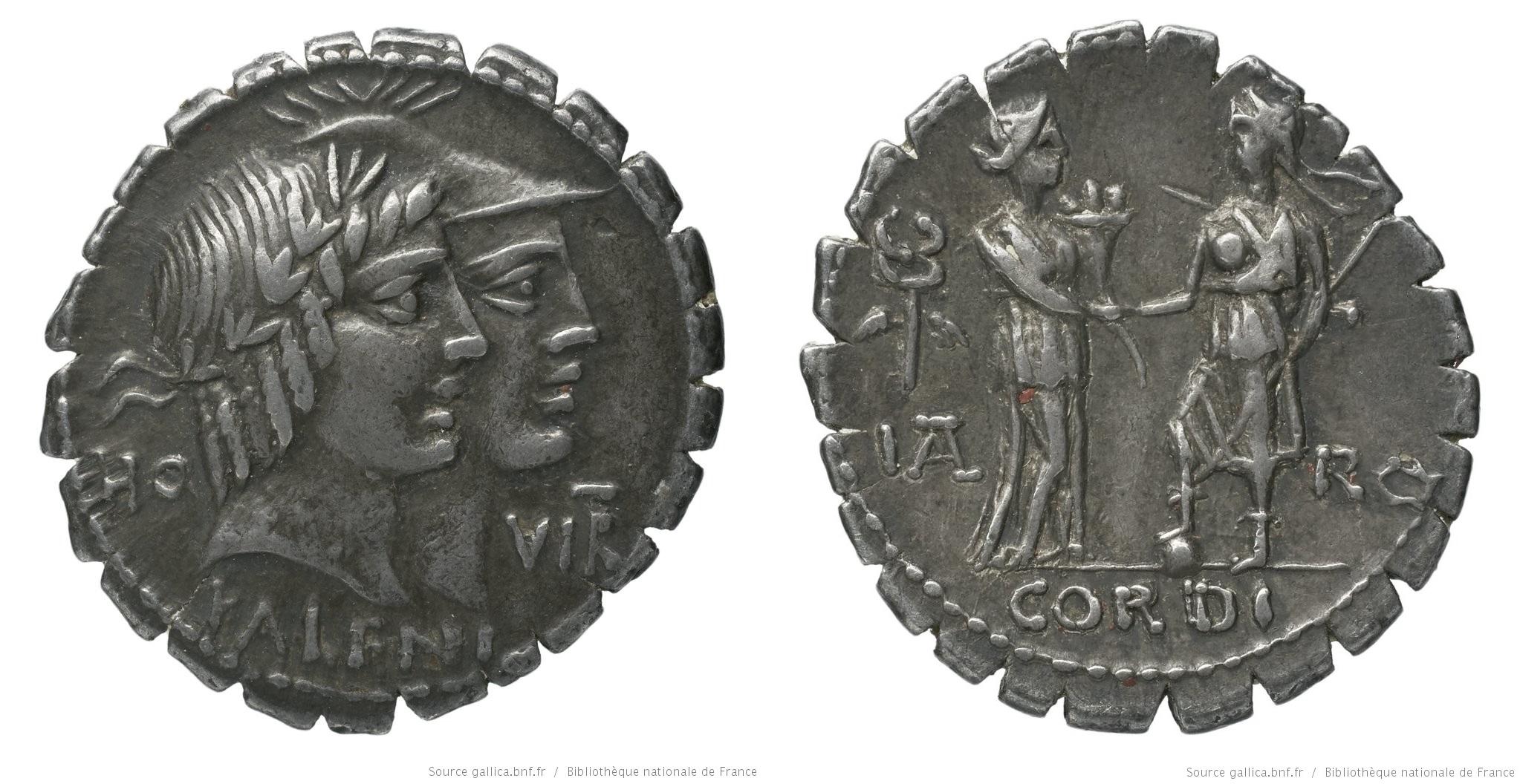 1347FU – Denier Serratus Fufia – Quintus Fufius Calenus