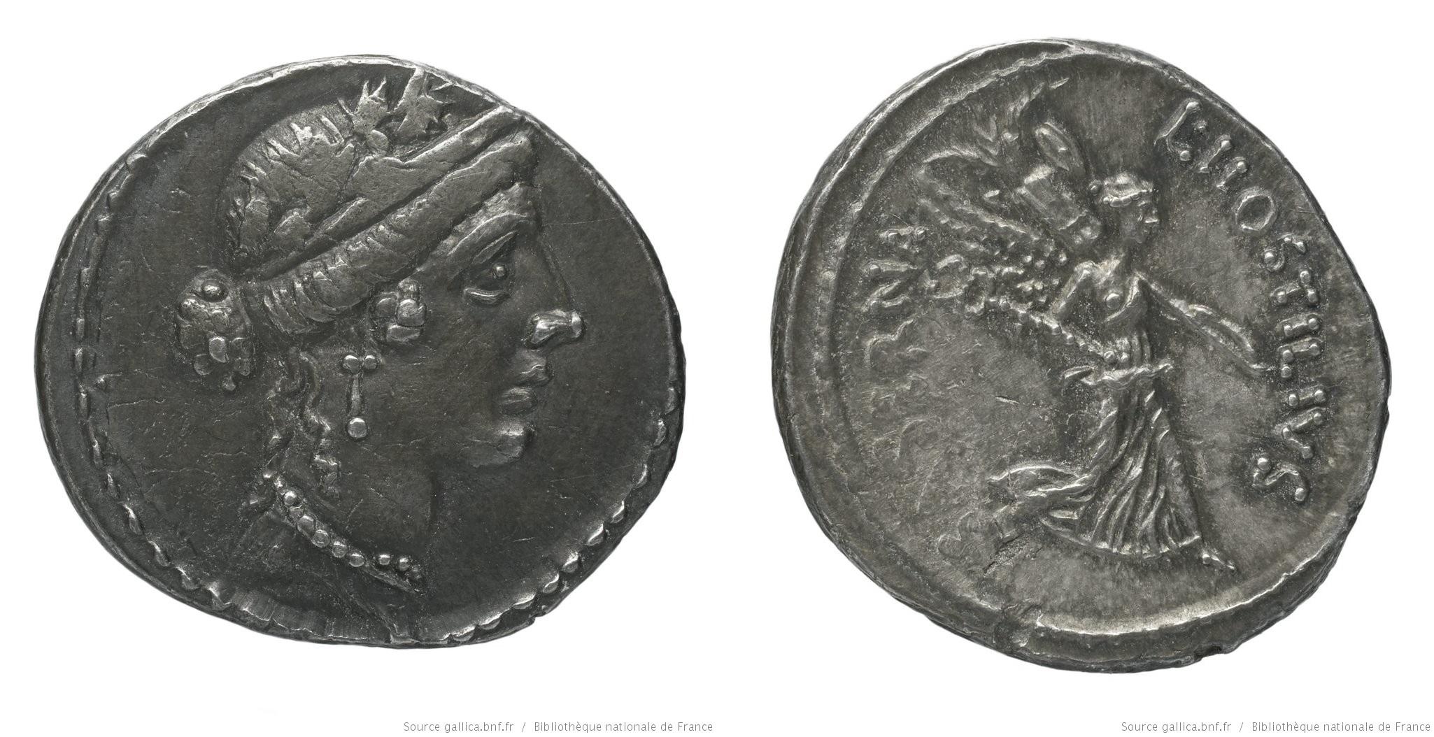 1431HO – Denier Hostilia – Lucius Hostilius Saserna