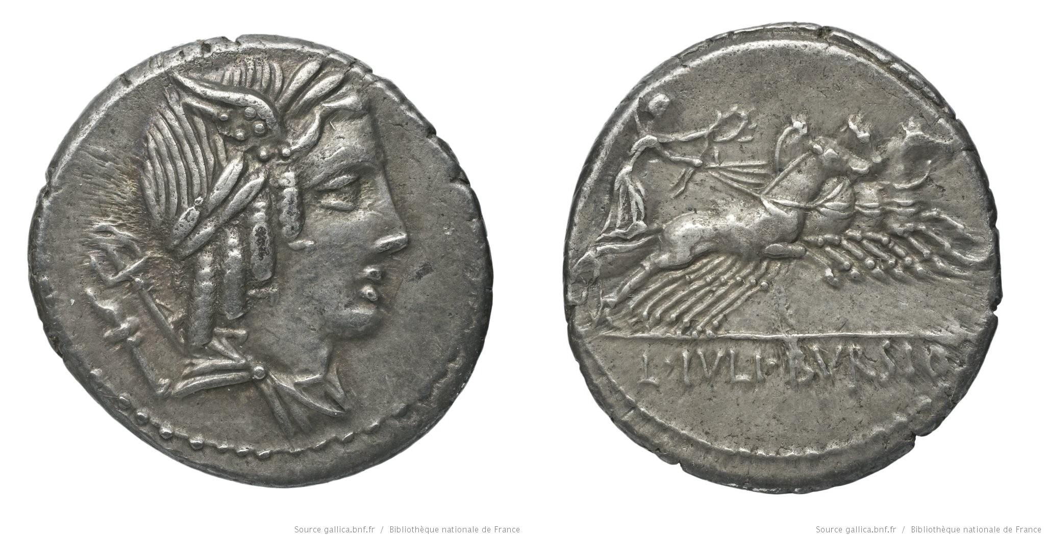 1265JU – Denier Julia – Lucius Julius Bursio