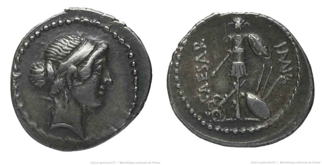 Read more about the article 1551JU – Denier César – Caius Julius Cæsar