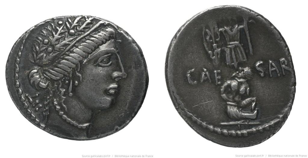 Read more about the article 1446JU – Denier César – Caius Julius Cæsar