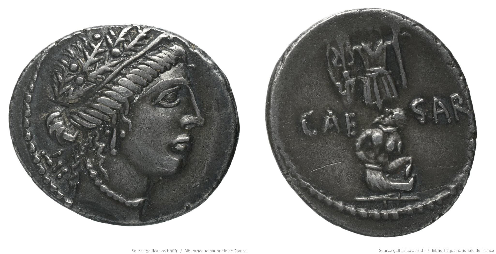 1446JU – Denier César – Caius Julius Cæsar