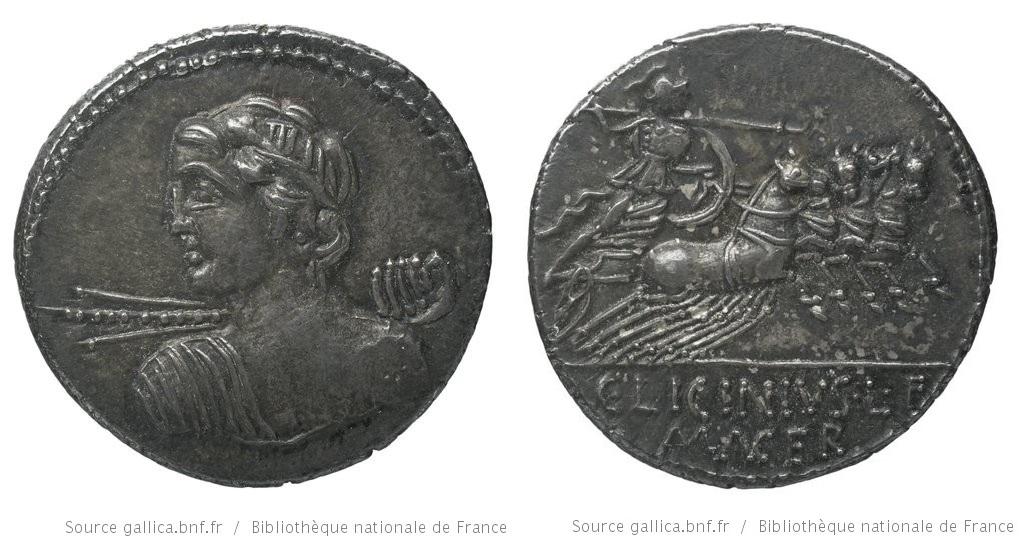 1272LI – Denier Licinia – Caius Licinius Macer