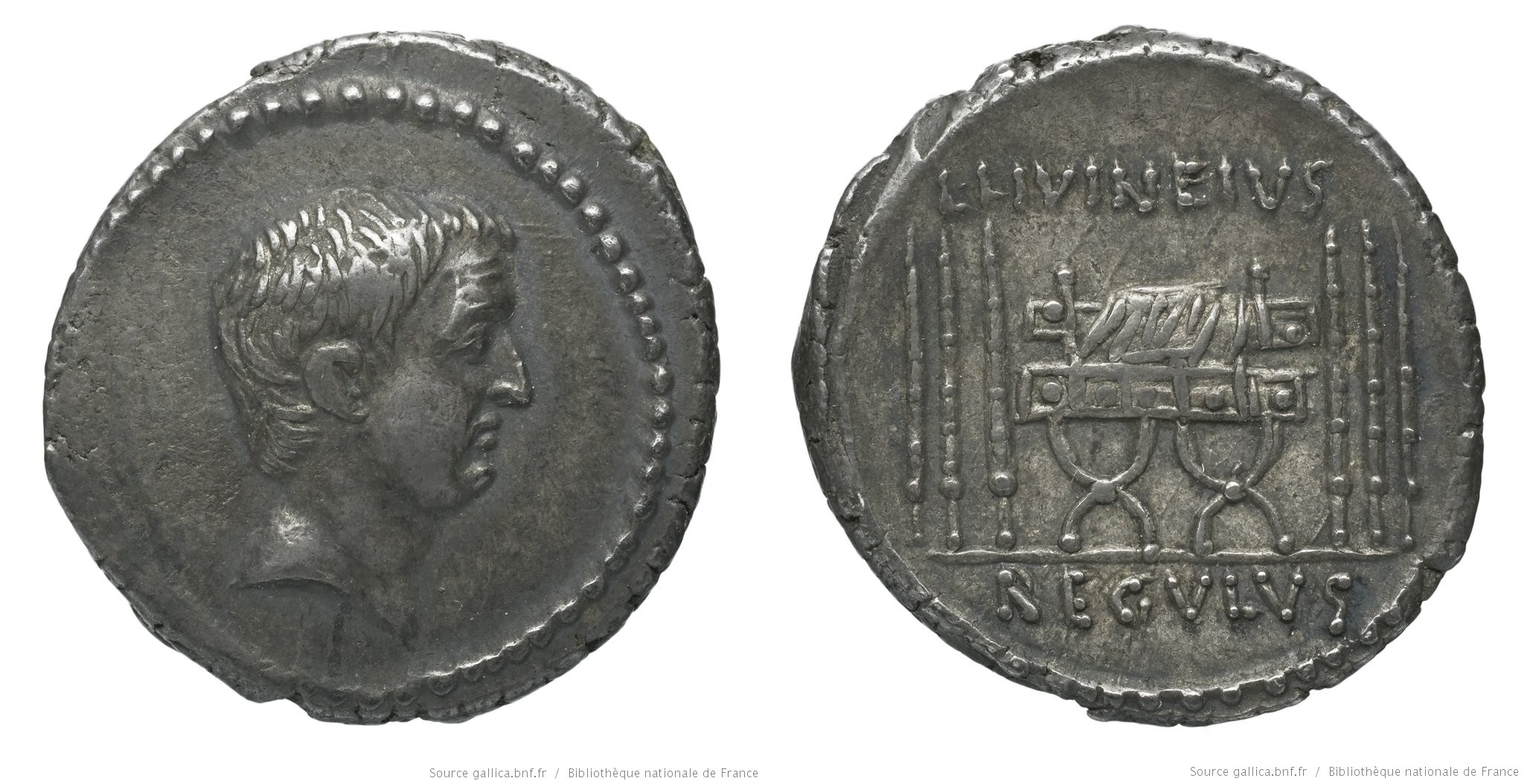 1606LI – Denier Livineia – Lucius Livineius Regulus