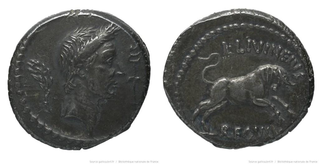 Read more about the article 1602JU – Denier César – Lucius Livineius Regulus