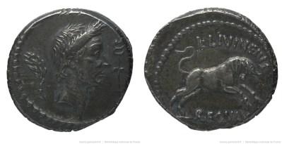 1602JU – Denier César – Lucius Livineius Regulus