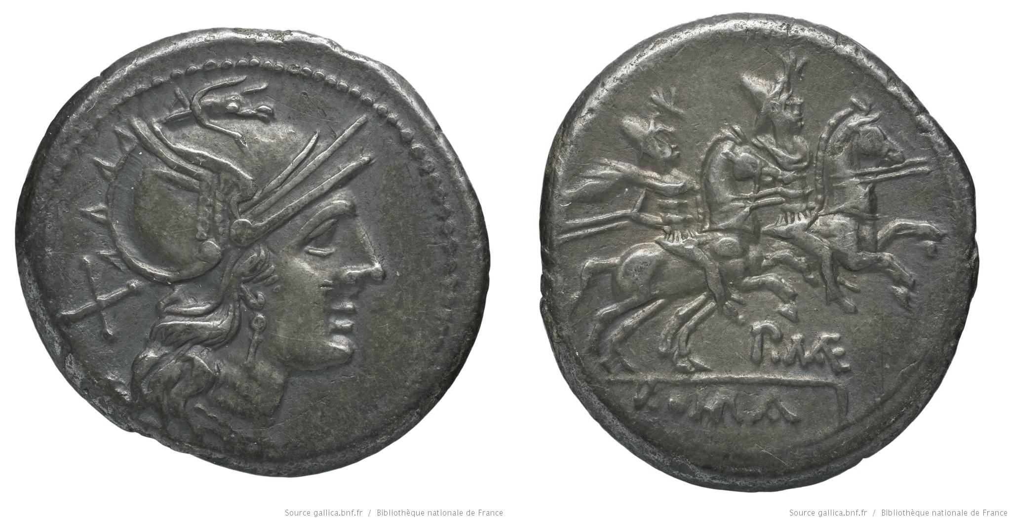 566MA – Denier Maenia – Publius Maenius