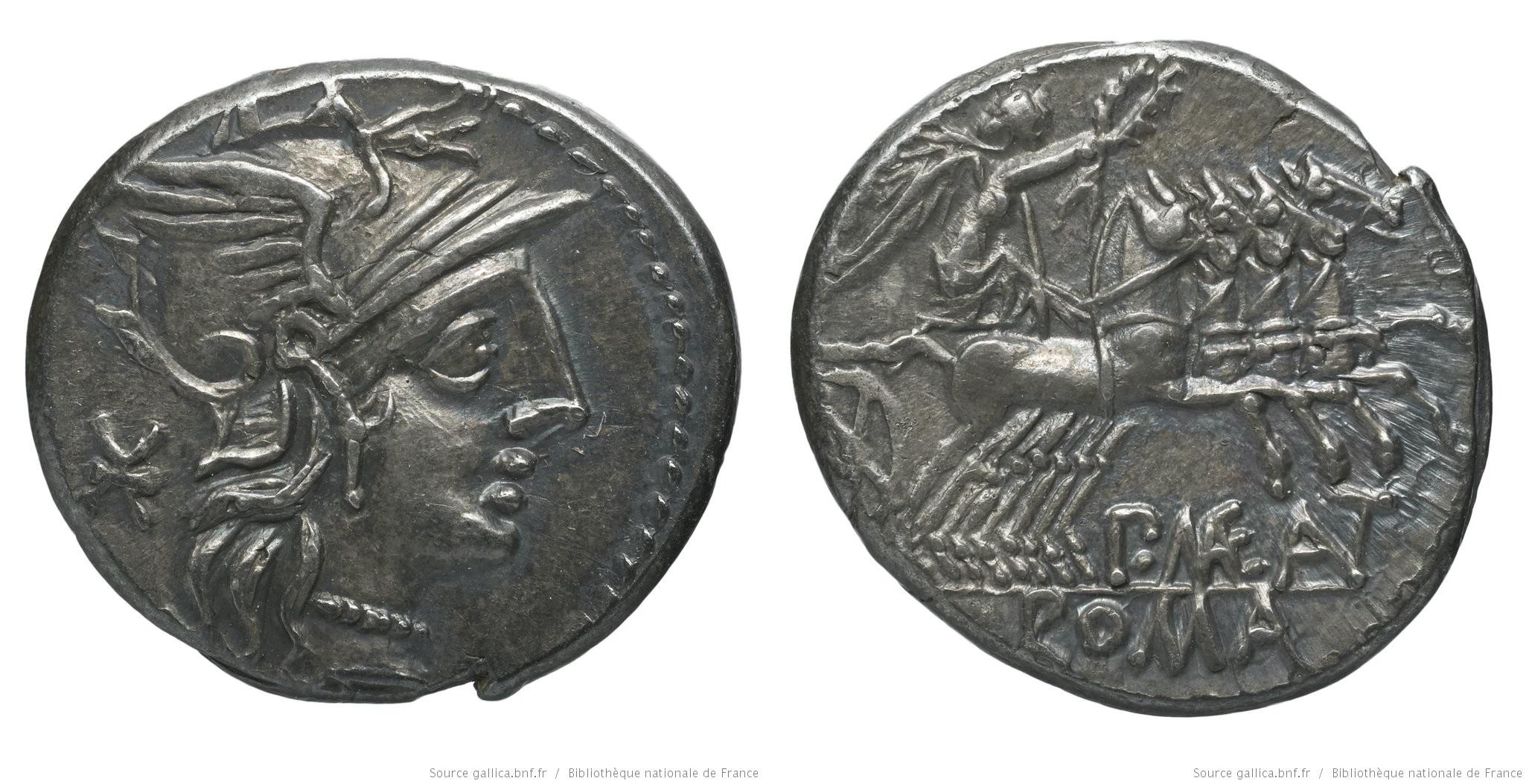 977MA – Denier Maenia – Publius Mænius Antiaticus