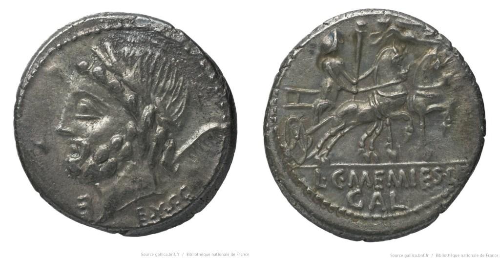 Read more about the article 1257ME – Denier Memmia – Lucius et Caius Memmius