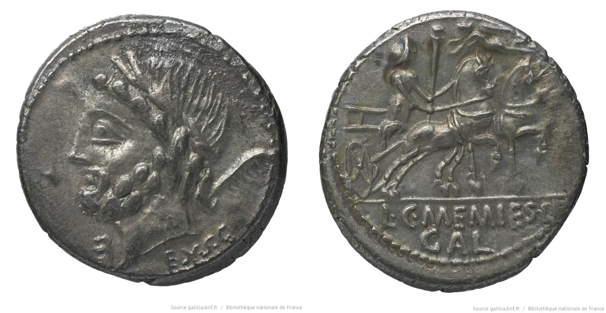 1257ME – Denier Memmia – Lucius et Caius Memmius
