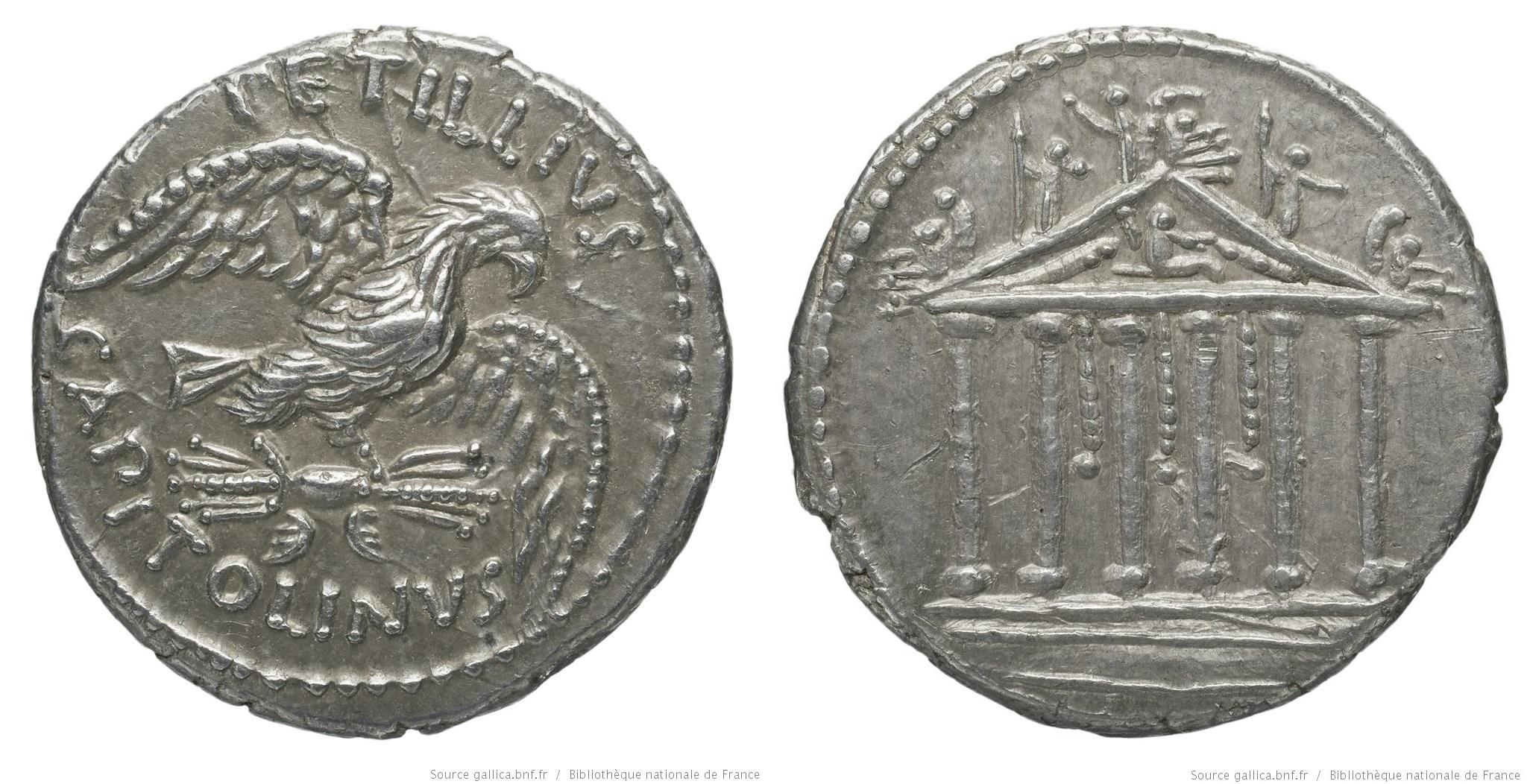 1559PE – Denier Petillia – Petillius Capitolinus