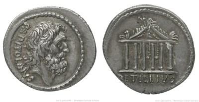 1558PE – Denier Petillia – Petillius Capitolinus
