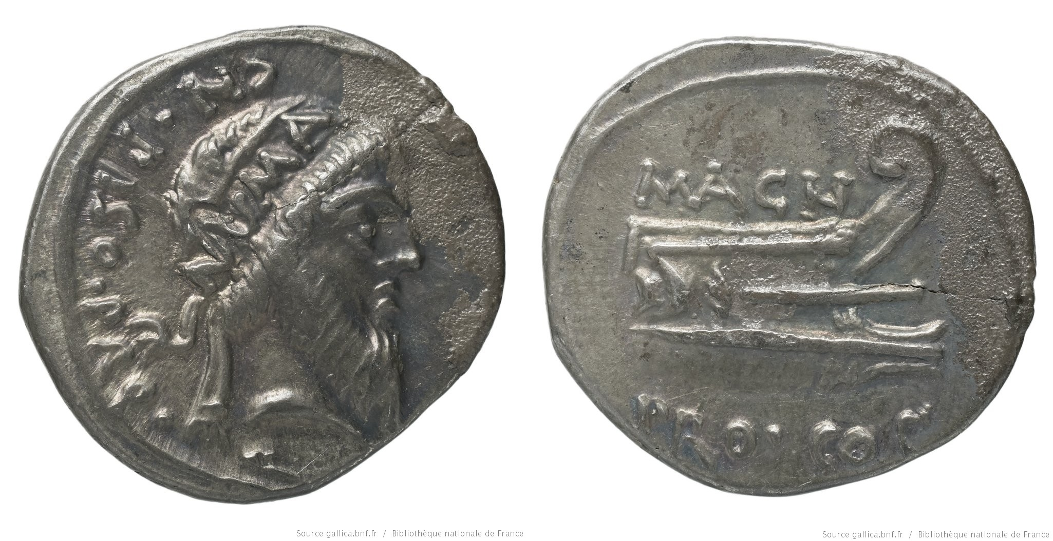 1428CA – Denier Pompée – Cnæus Calpurnius Piso
