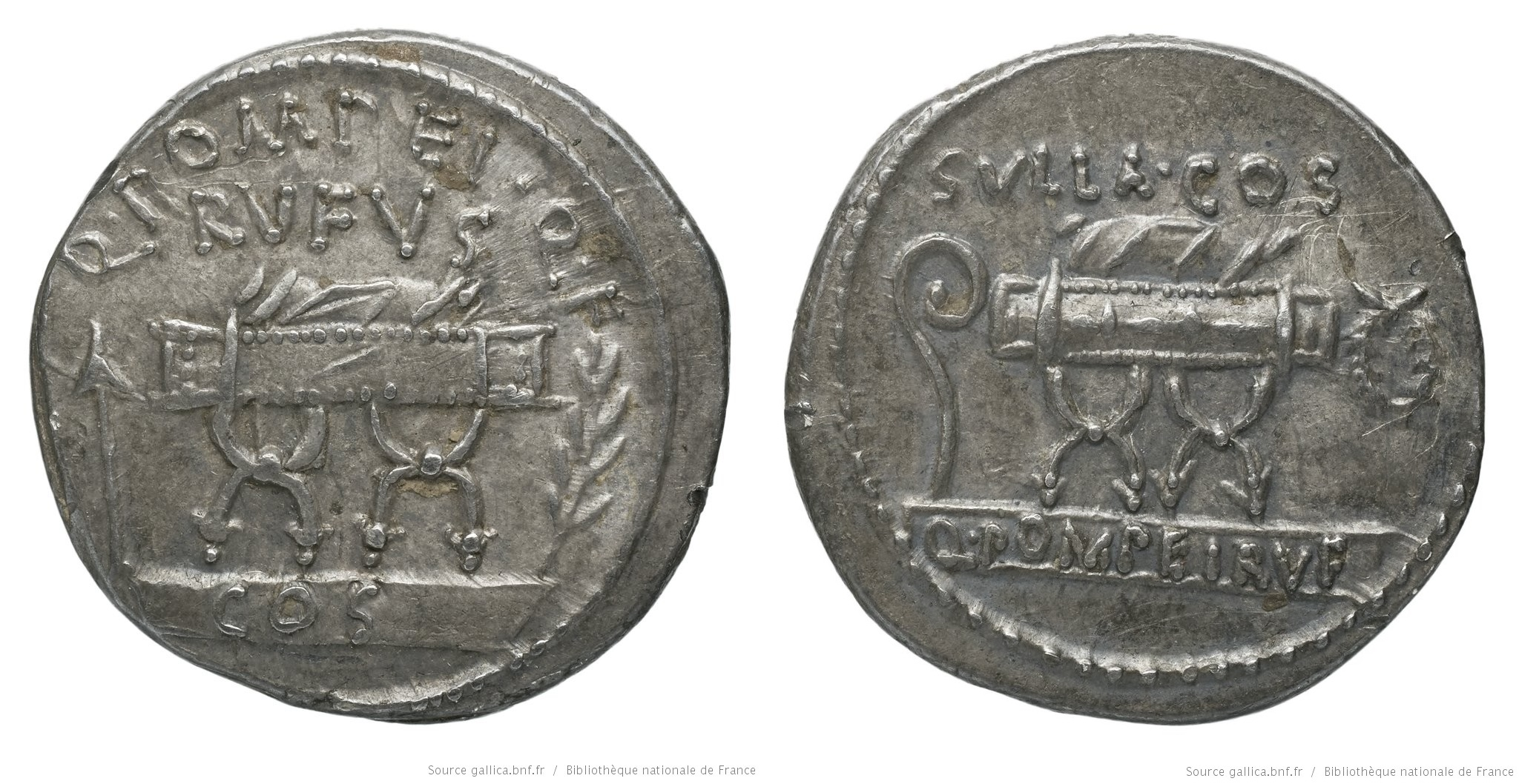 1413PO – Denier Pompeia – Quintus Pompeius Rufus