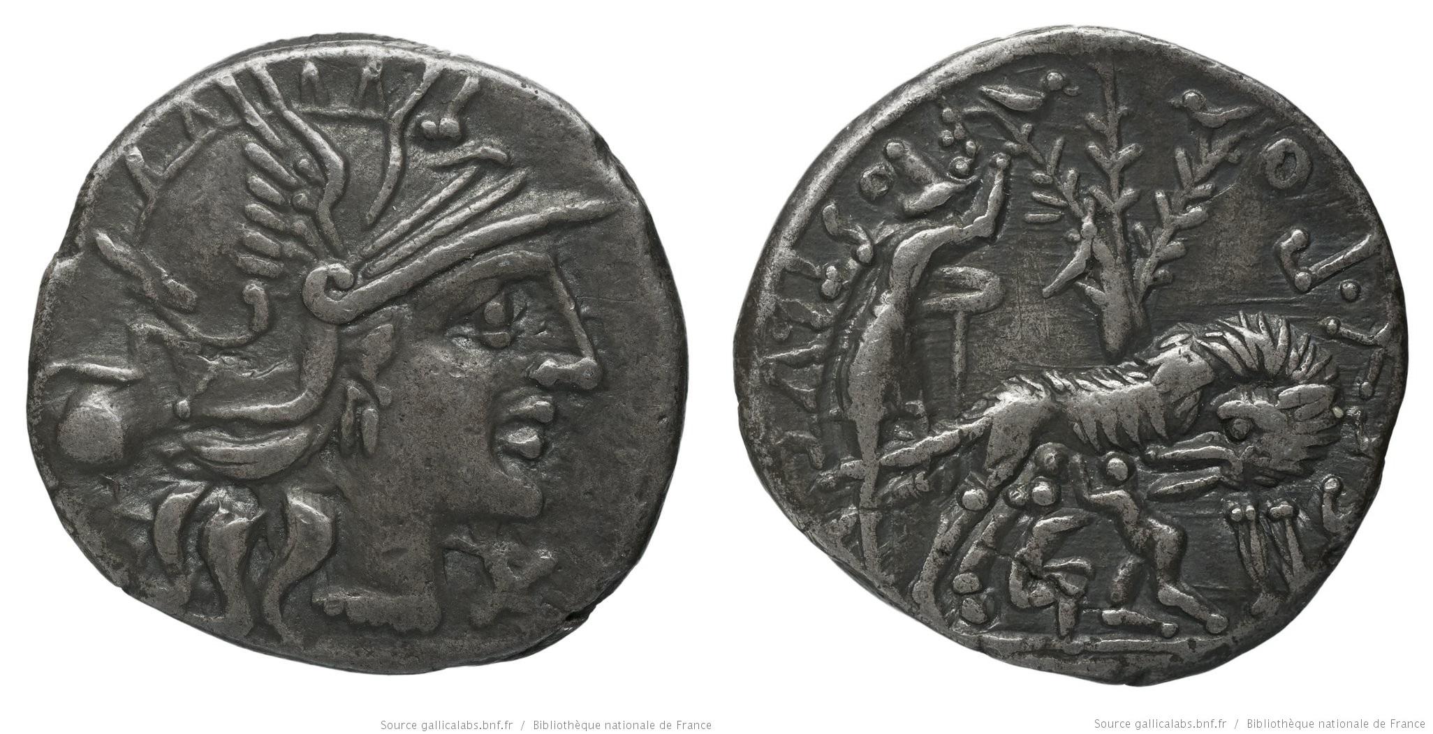 923PO – Denier Pompeia – Sextus Pompeius Faustulus